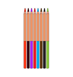 group of color pencils vector image