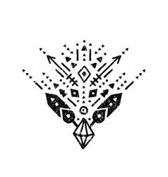 hand drawn tribal sign vector image
