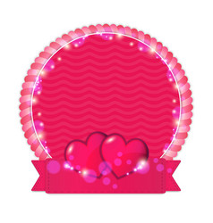 happy valentine s day label vector image