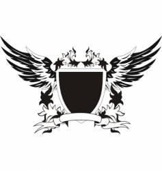 Heraldry retro shield vector