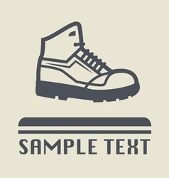Hiking shoe icon vector