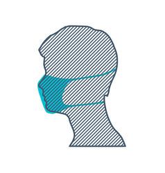 human wearing a medical mask vector image