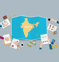 india country growth nation team discuss with vector image
