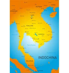 Indochina vector image