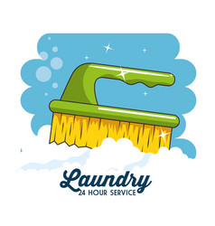 Laundry logo emblem badge vector