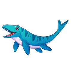 little mosasaurus cartoon vector image