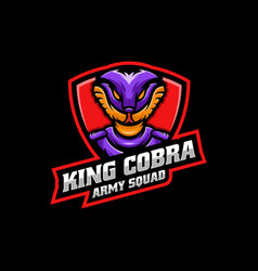 logo king cobra e sport and sport style vector image