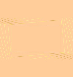lovely pastel background with golden geometric vector image