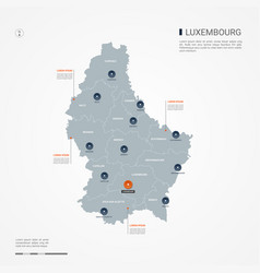 Luxembourg infographic map vector