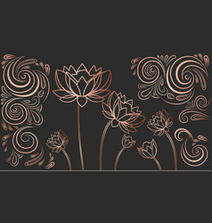 Luxury wallpaper with flowers vector