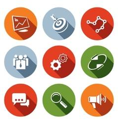 Marketing icon collection vector