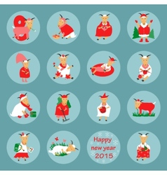 New year flat icon goat vector image