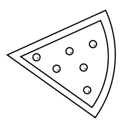 One slice of pie icon outline style vector image