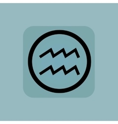 Pale blue Aquarius sign vector