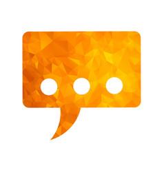 polygon golden icon message vector image