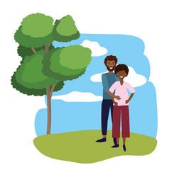 pregnant couple avatar vector image