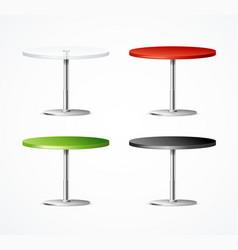 realistic 3d detailed one leg table restaurant set vector image