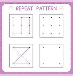 repeat pattern kindergarten educational game for vector image