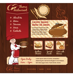 Restaurant wood template with chief vector image