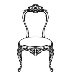 Rich classic armchair royal style decotations vector