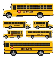 School buses vector