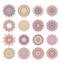 set oriental abstract elements vector image