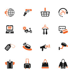 shopping and e-commerce icon set vector image