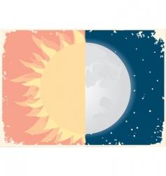 Sun moon vector