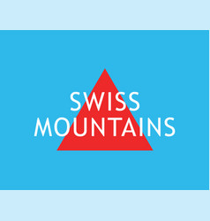 swiss mountains alps - creative badge for vector image