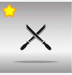 sword black icon button logo symbol vector image