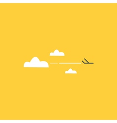 Travel by plane airline transport vector image
