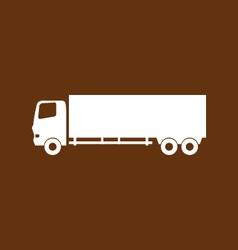 truck icon vector image
