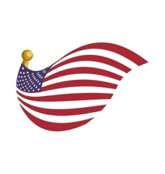 United states usa flag vector image