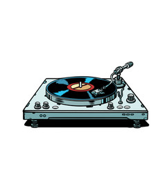 Vinyl record player isolate on white background vector
