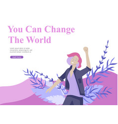 Web page design template for beauty dreams vector