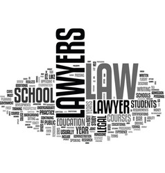 What does it take to be a lawyer text word cloud vector