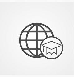 world education icon sign symbol vector image