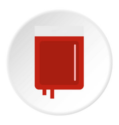 Blood transfusion icon circle vector