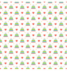 happy birthday seamless pattern design for vector image vector image