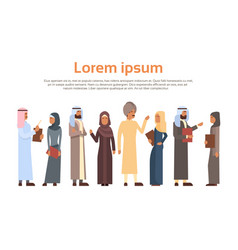 muslim people crown business man and woman vector image vector image