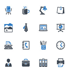 Office Icons-Blue Series vector image vector image