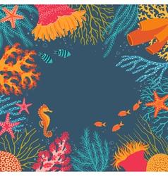 Underwater background vector image vector image