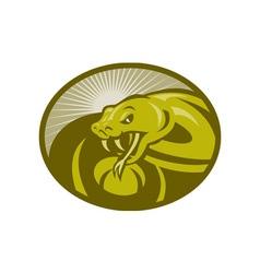 Angry snake viper baring its fangs vector image vector image