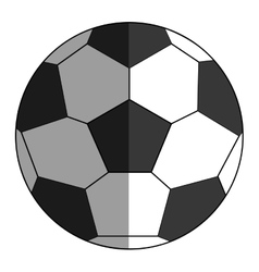 classic football icon vector image