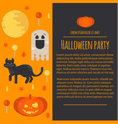 Halloween concept letterhead template vector