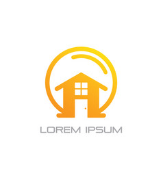home building business logo vector image vector image