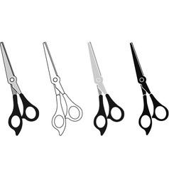 Scissor Icon Set vector image vector image