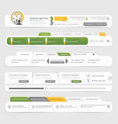 Website template infographic design menu vector image vector image