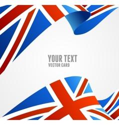 Flag of UK Border vector image