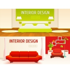 Interior Design Banners Set vector image